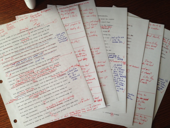 This sea of red is a familiar sight on my rough drafts